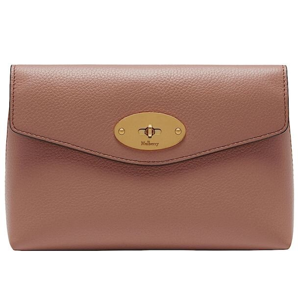 Mulberry Darley cosmetic pouch dark blush front