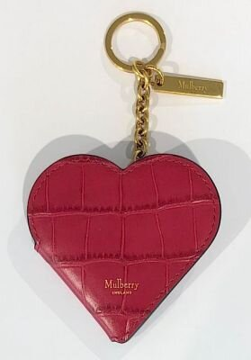 Mulberry nøglering heart potrait red