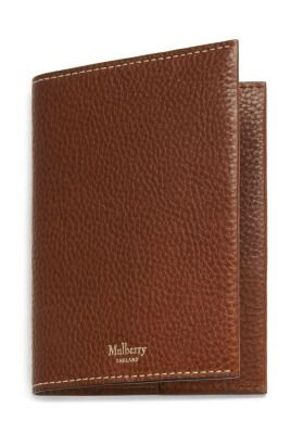 Mulberry passport cover oak