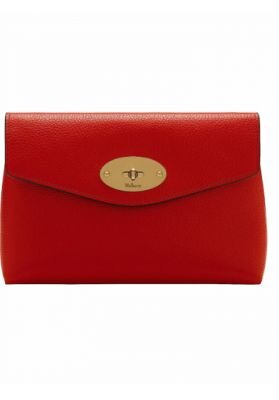 Mulberry Darley cosmetic pouch taske ruby red