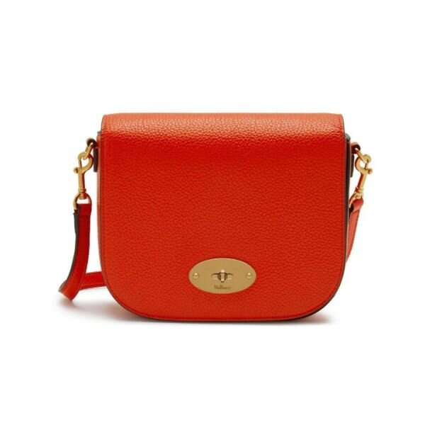 Mulberry Small Darley Satchel RL4957/205N657 Tangerine Orange