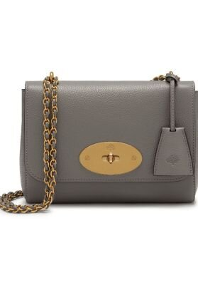 Mulberry Lily taske charcoal small classic grain grå