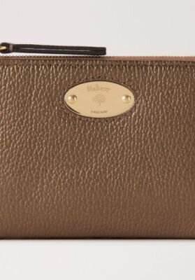 Mulberry pung Plaque small zip coin messing