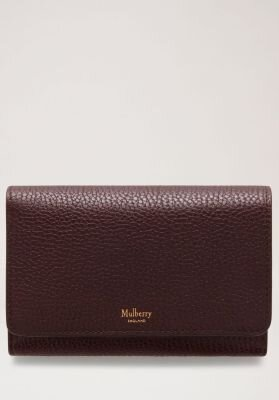Mulberry pung medium continental french purse oxblood