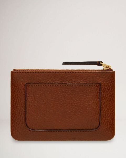Mulberry pung Plaque Small Zip Coin Pouch Oak bagsiden